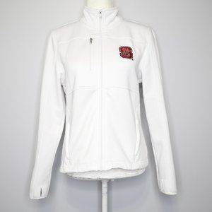 NC State White Zip-Up Shell Jacket